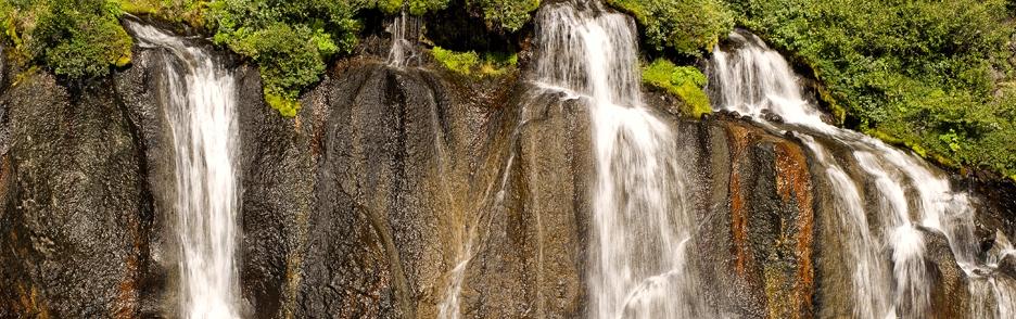 Detail části vodopádu Barnafoss